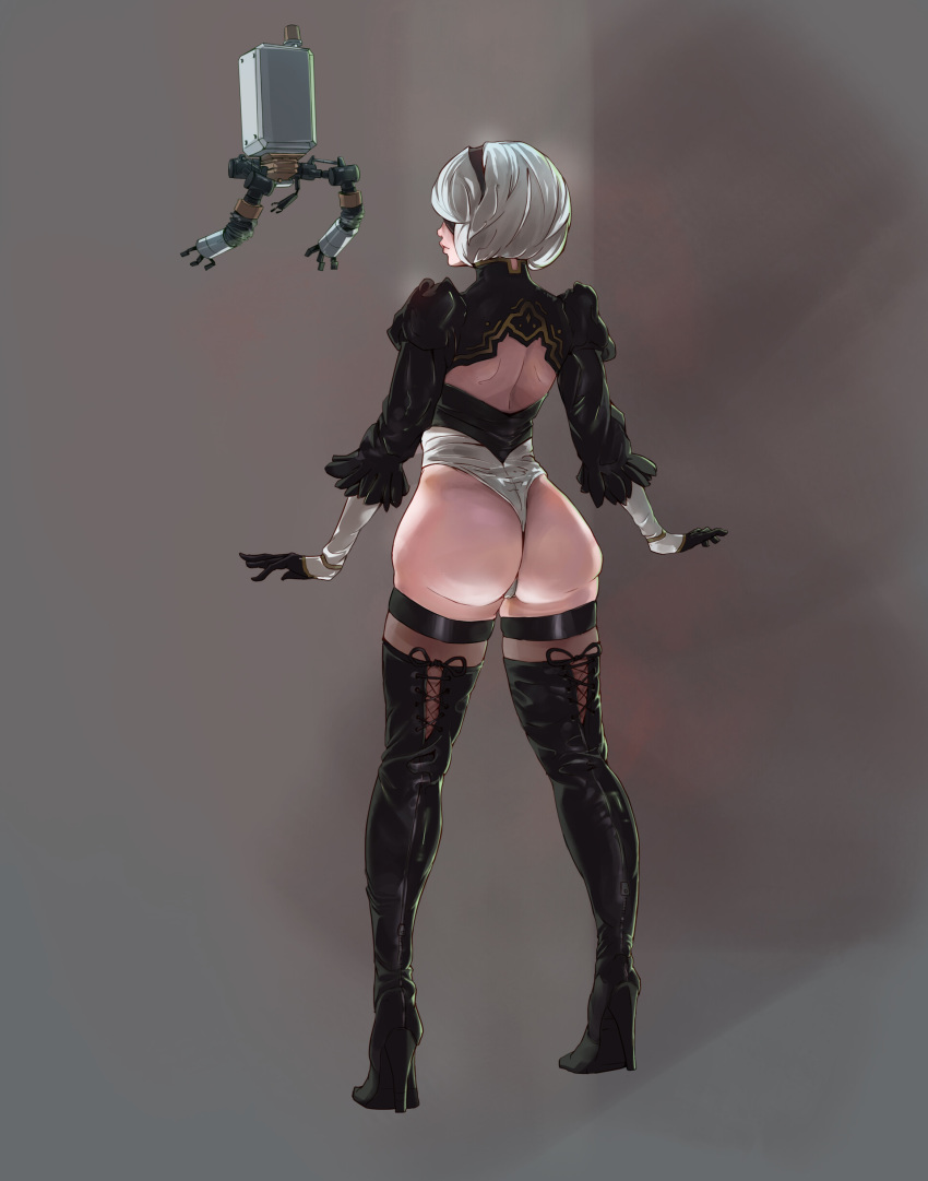 nier automata 2b Flip the frog and clarisse the cat