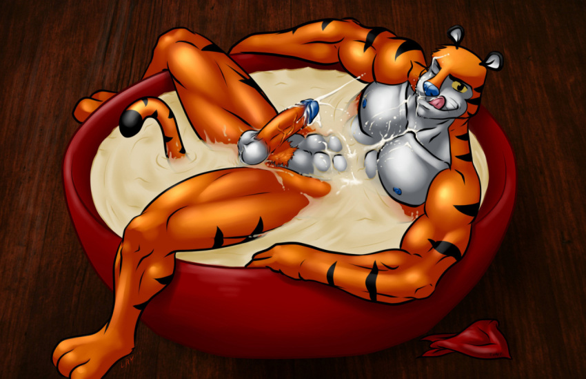 a does the why have blue tony tiger nose Alpha and omega